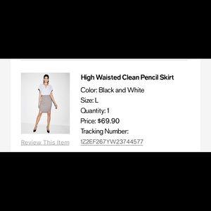 NWT High Waisted Pencil Skirt